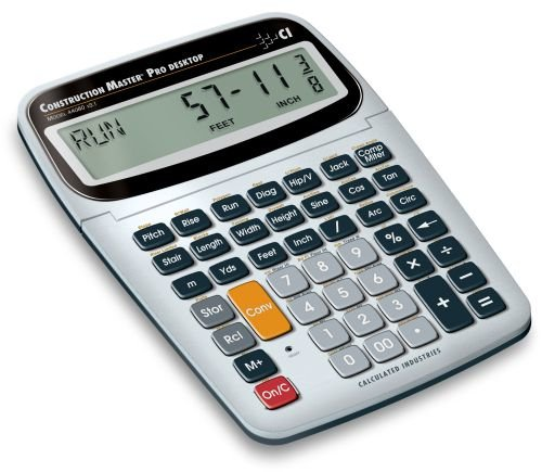 Calculated Industries 44080 Construction Master Pro Construction Calculator for builders, carpenters, and also contractors