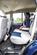 Rear knee room and head room is similar to outgoing Scorpio