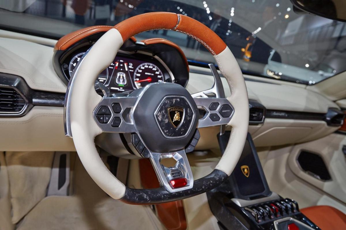Lamborghini Asterion - the steering wheel