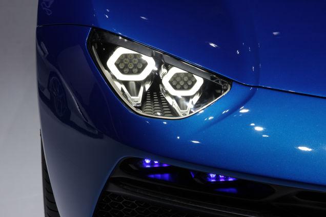 Lamborghini Asterion - left headlamp