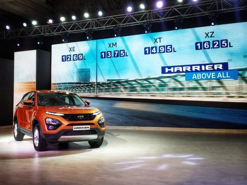 Prices for the Tata Harrier start at ₹12.69 lakhs ex-showroom Mumbai