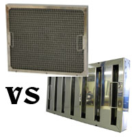 Baffle filter vs mesh filter