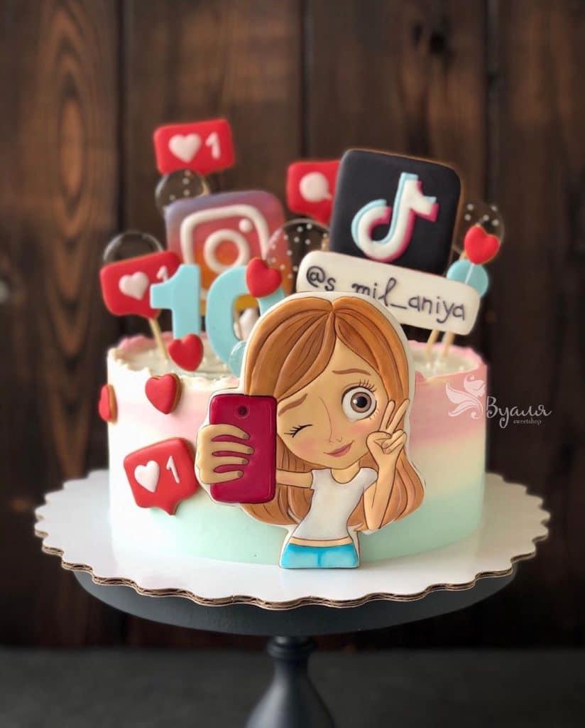 Tik Tok Birthday Cake Ideas For Boys Novocom Top