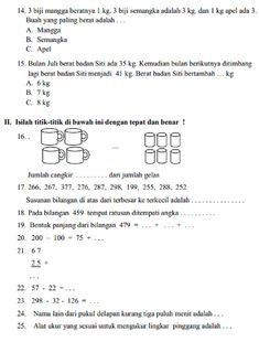 Latihan Soal Matematika Kelas 2 Sd : latihan, matematika, kelas, Latihan, Matematika, Kelas, Semester, Algebra, Thebestfasr