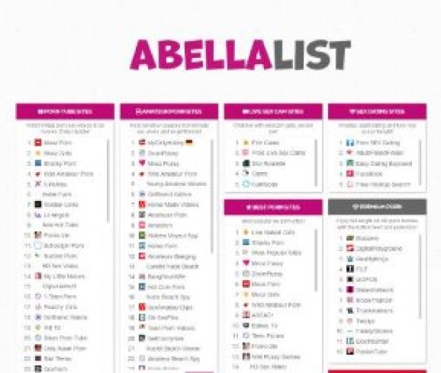 Abella List Is One Of Those Websites That Recommends Some Of The Best Porn Pages Out There You Can Be Sure That Youll Find Plenty Of New Material Right