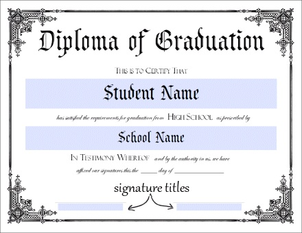 50+ FREE High School Diploma Template - Printable Certificates!!