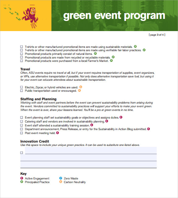 event program templates free