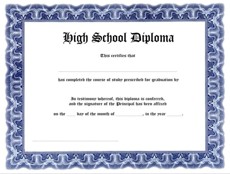 How To Design Standard High School Diploma Template