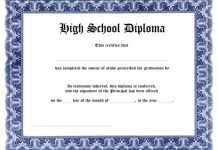 standard high school certificate