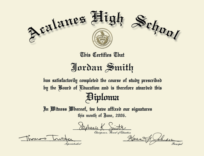 photograph regarding Printable High School Diploma named How Toward Generate A False Superior Faculty Degree On the net For No cost!!
