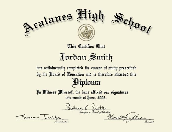 June 2008 Fake School High Online Free A Diploma Make Steve Zombie shooting