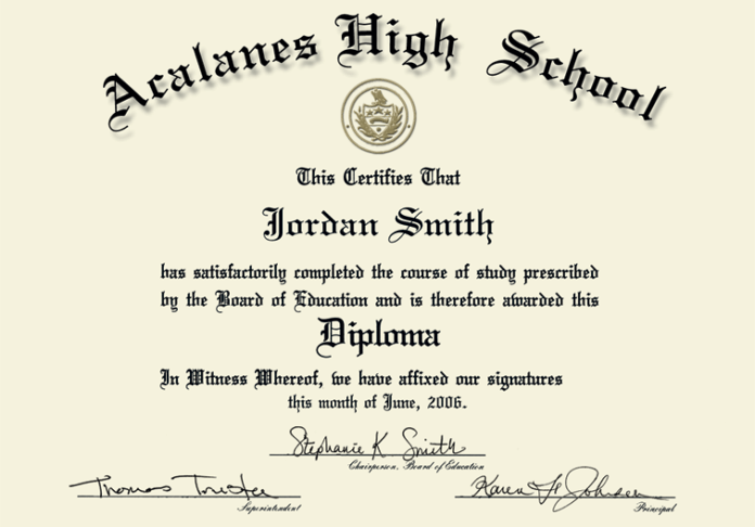Print High School Diploma