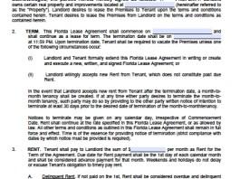florida lease agreement