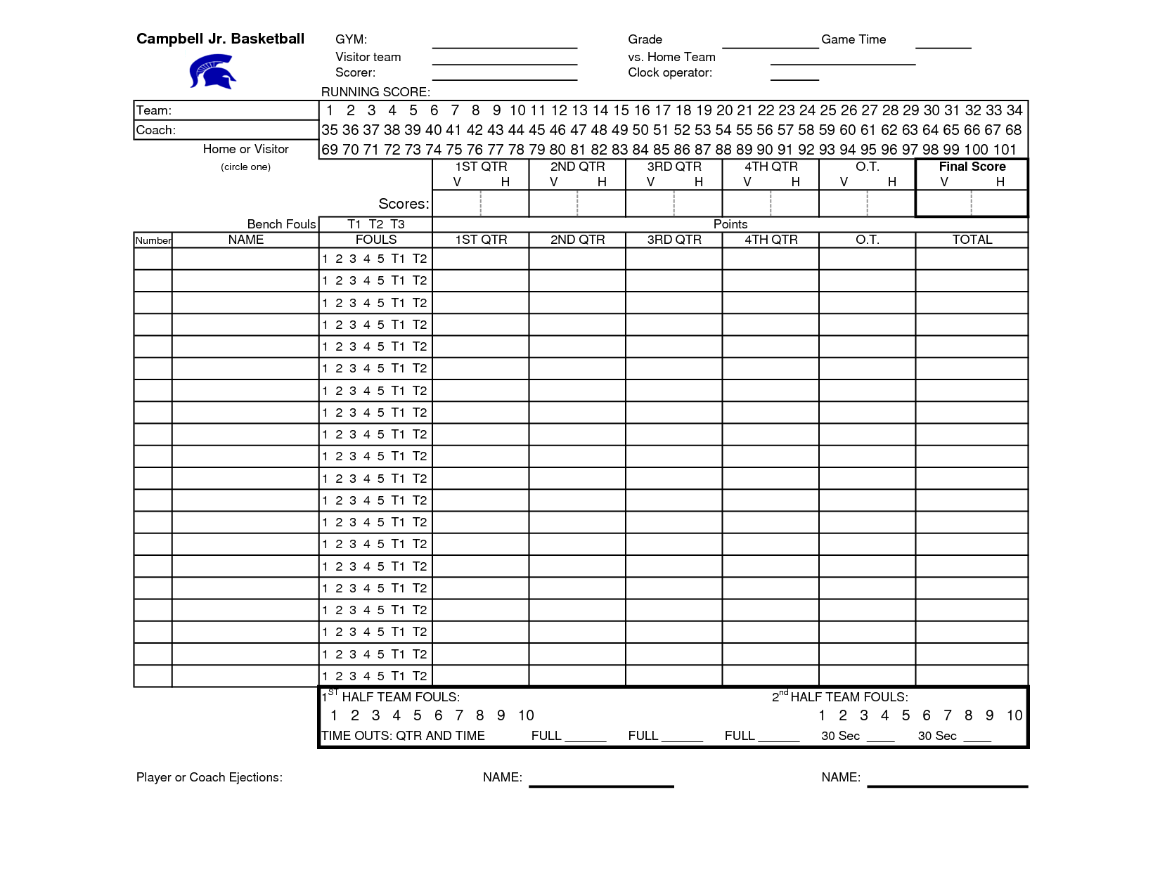 Basketball Stat Sheet - FREE DOWNLOAD