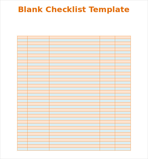 checklist template word - free download