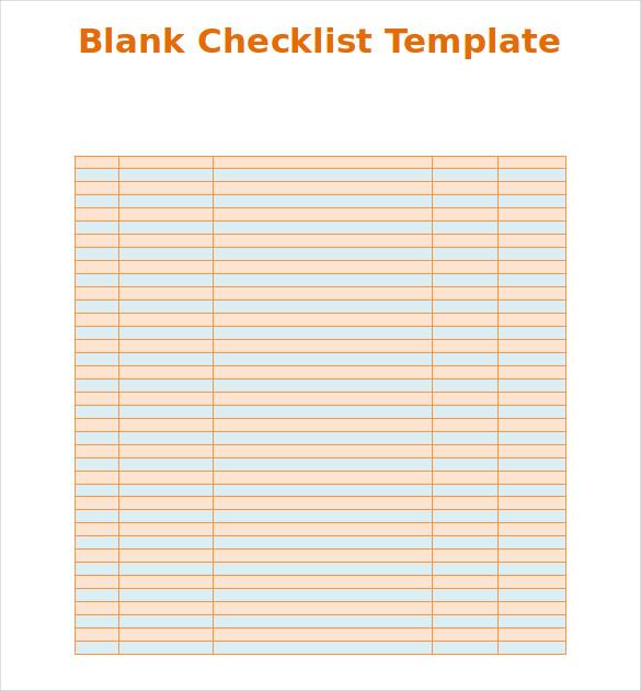 Microsoft Word Checklist Template  Checklist Format Word