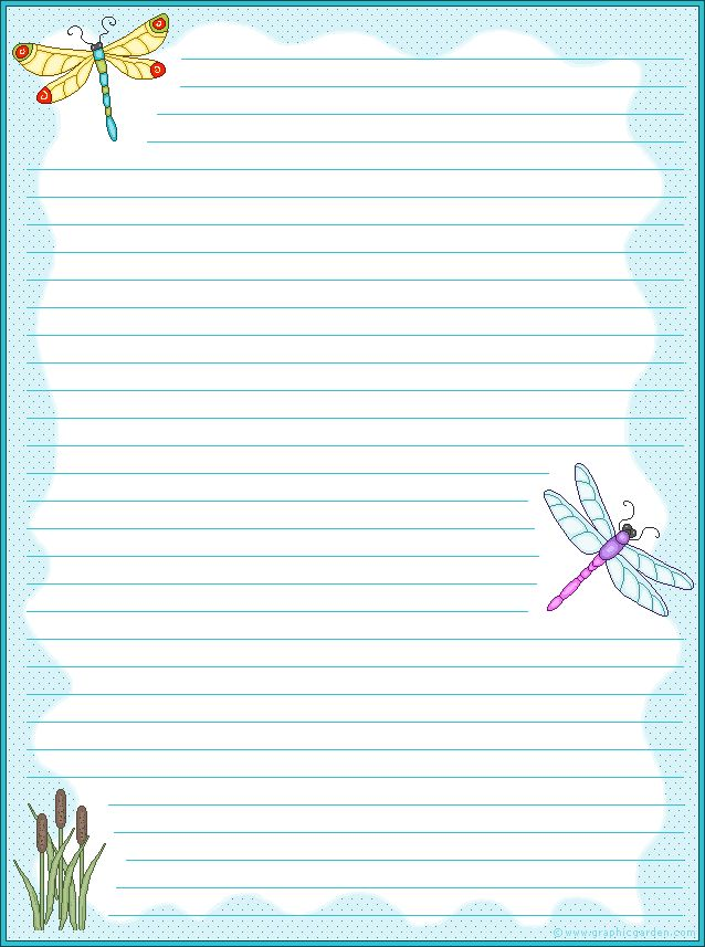 This is an image of Printable Stationary for Kids for letter