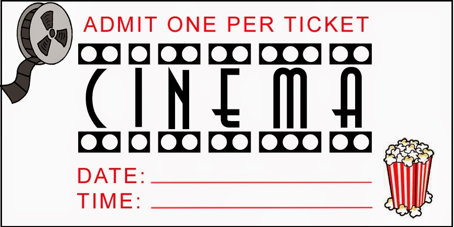 It's just a photo of Sizzling Movie Ticket Invitation Template Free Printable