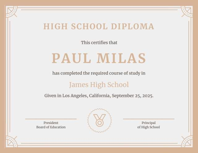 50 free high school diploma template printable certificates