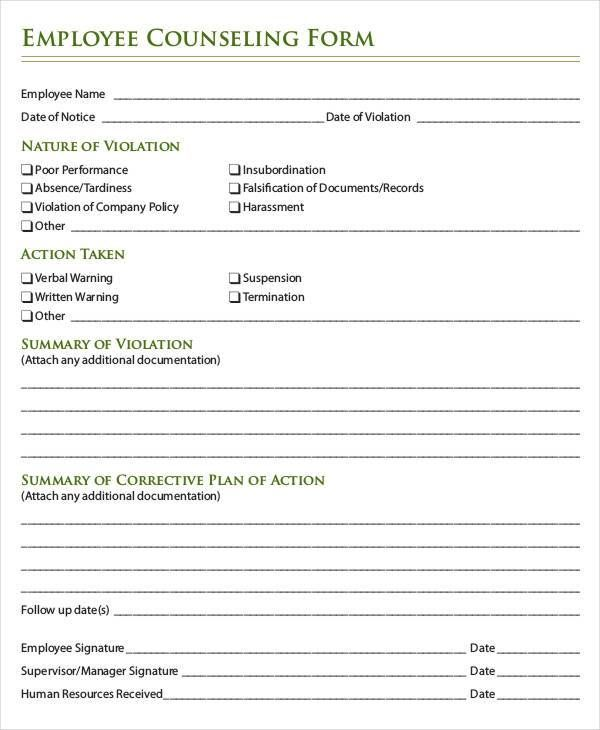 20  employee write up form free download  pdf   word