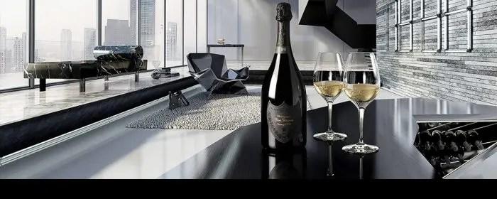 シャンパンの高級品 ドンペリニヨン