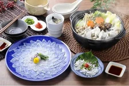 絶品とらふぐ刺身・鍋セット(ヒレ付)3~4人前