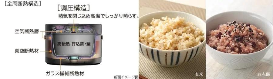 日立 おひつ御膳 炊飯器(2合用) RZ-BS2M 多機能