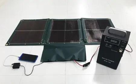 折り畳み式ソーラーパネルと蓄電池【picoGrid+】