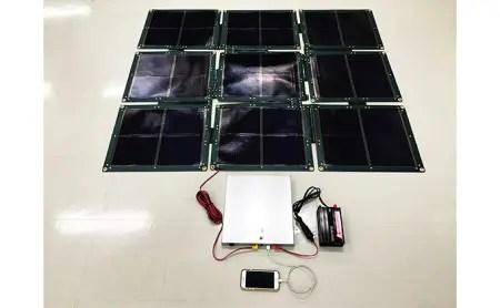 折り畳み式ソーラーパネルと蓄電池