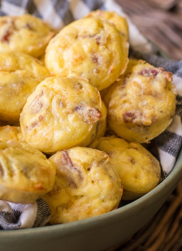 Working on incorporating easy keto meal prep into your routine? Try these Keto Bacon Egg and Cheese Bites for an easy grab and go breakfast! Less than one net carb per bite!