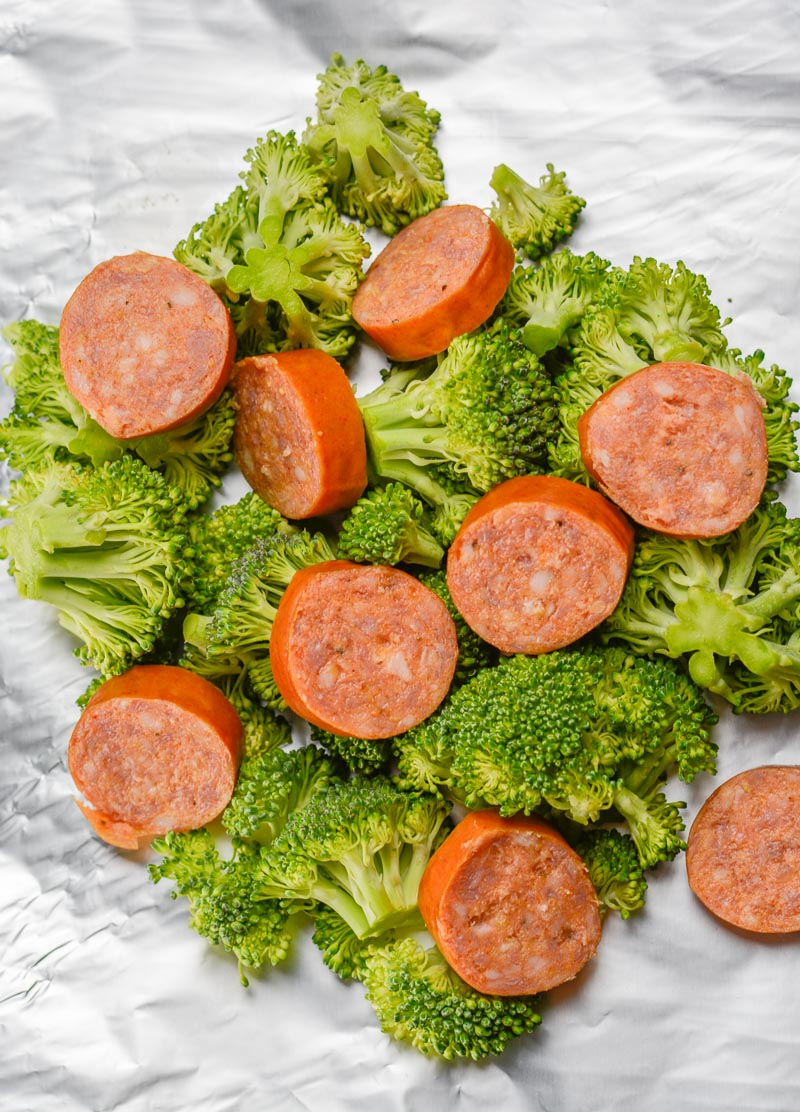 These Sausage Broccoli Cheddar Foil Packs have just three ingredients, are under 7 net carbs and ready in about 20 minutes! This is a simple foil pack recipe perfect for the grill or oven!