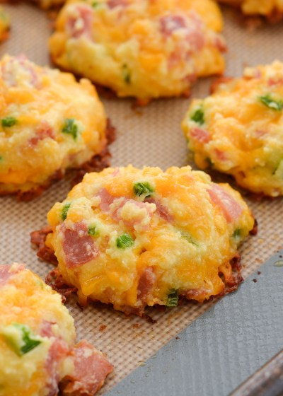 These Keto Ham, Cheddar and Jalapeno Bites have just 1 net carb each, making them perfect for low carb meal prep!