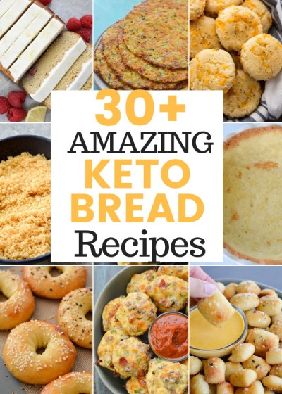 This recipe roundup includes 30+ Amazing Keto Bread Recipes to help make your low-carb life delicious!