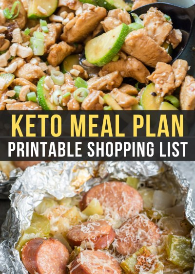Week 13 of our Easy Keto Meal Plan includes tasty dinners like Sesame Chicken Stir Fry and Sausage and Cabbage Foil Packs!