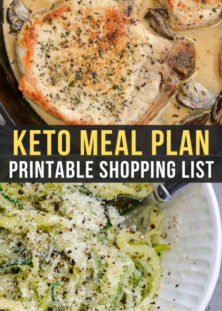 Week 16 of our keto meal plan includes tasty dinners like mushroom cream sauce pork chops and zoodles with meatballs!