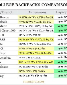 Best laptop backpacks comparison table also for college guys with laptops rh thebestli