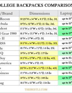 Laptop backpack comparison chart let   you see easily which for college is the correct size capacity has right features and fits your also best backpacks guys with laptops rh thebestli