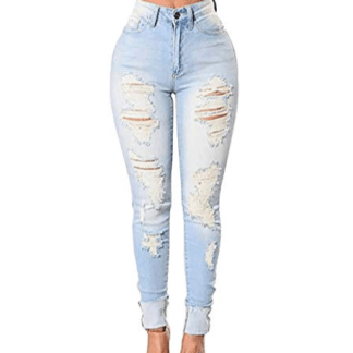 Women Ripped Torn Jeans
