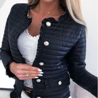 Winter Women Warm Button-down Cotton jacket Coats