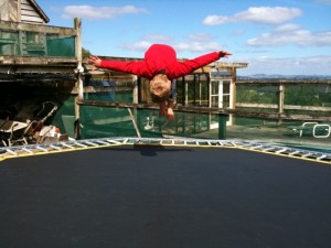 Ethan on the Trampoline