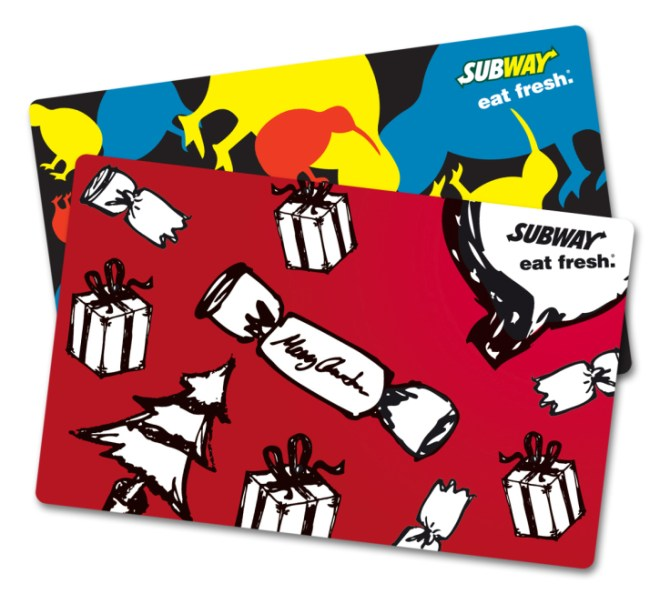 Subway Gift Card New Zealand