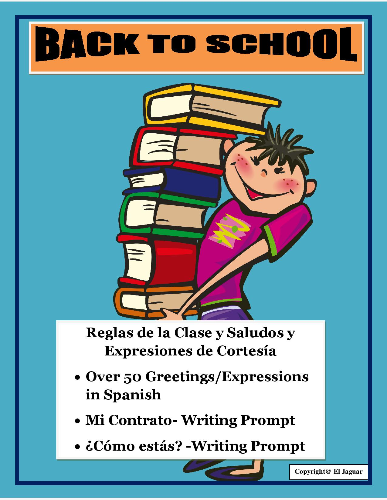 Back To School Bundle Greetings And Class Rules In Spanish Ice Breaker Prompt The Best Of