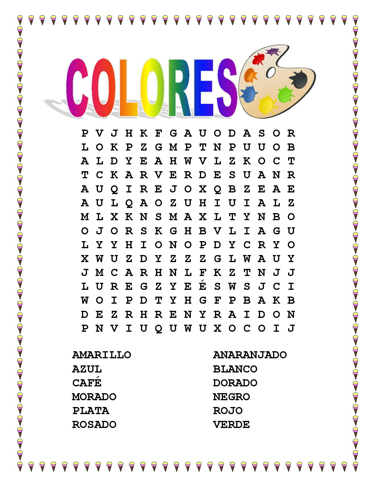 Miscellaneous Lesson Spanish Colors Vocabulary Amp Word