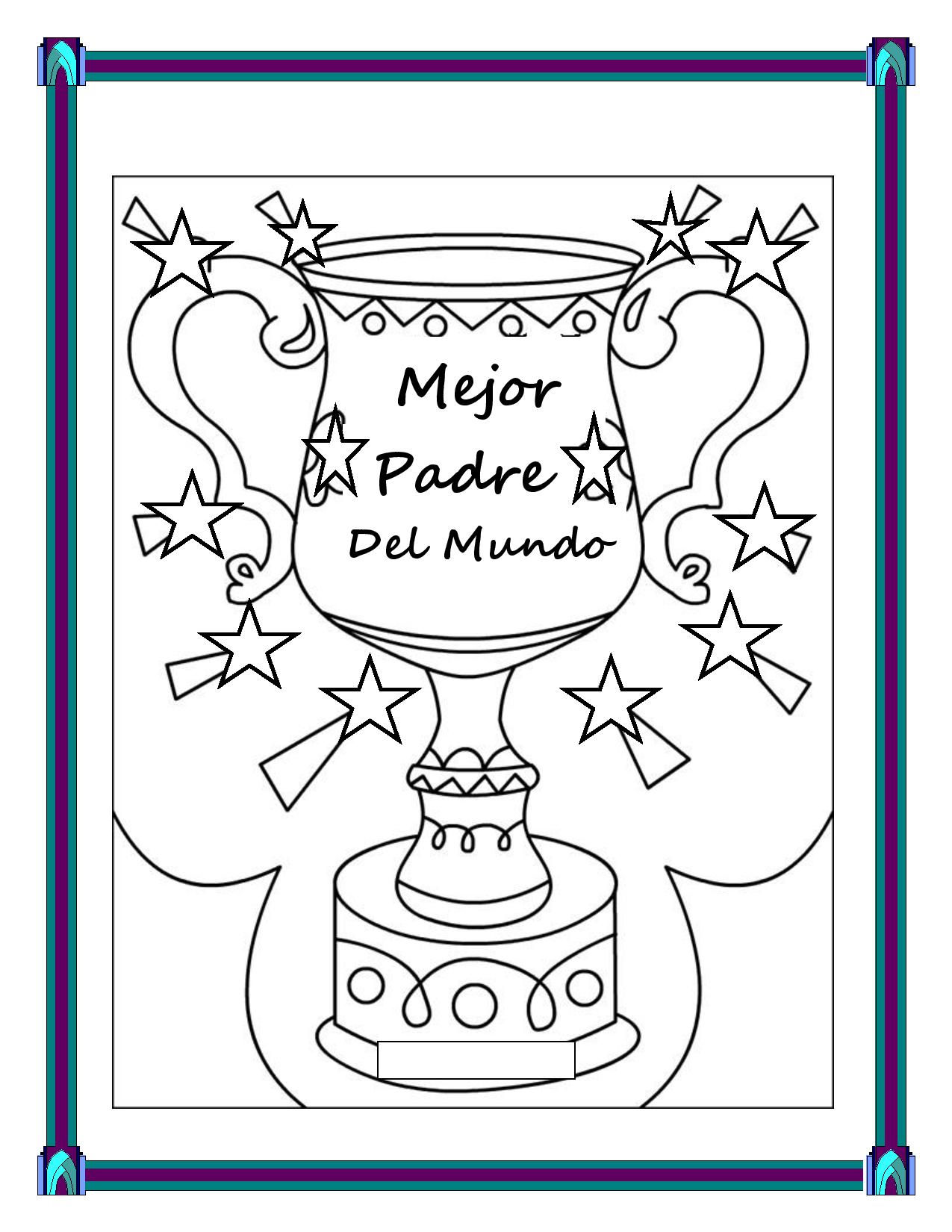Spanish Father S Day Students Make A Father S Day Trophy