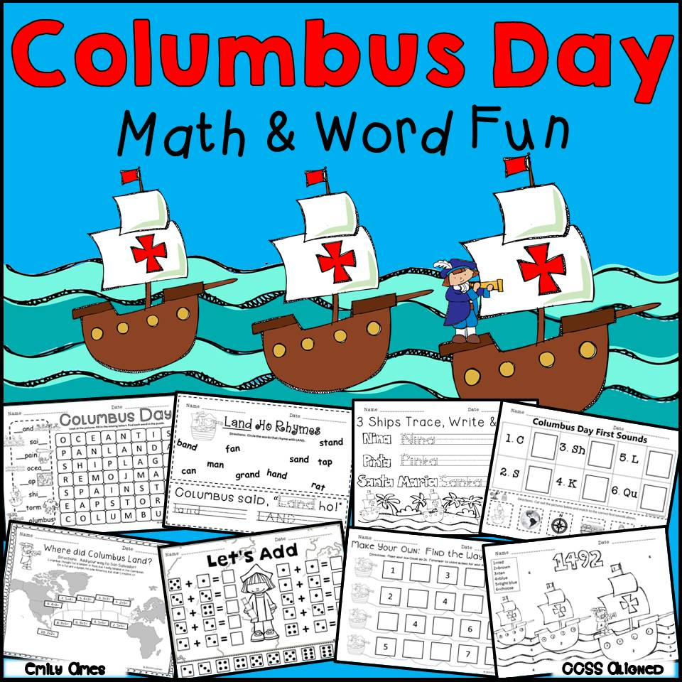 medium resolution of Columbus Day Math and Word Fun – The Best of Teacher Entrepreneurs  Marketing Cooperative