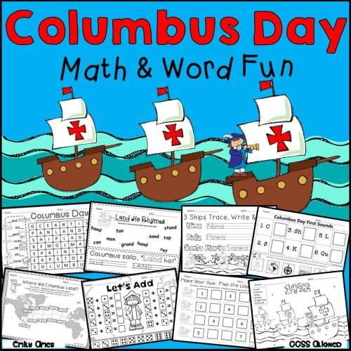 small resolution of Columbus Day Math and Word Fun – The Best of Teacher Entrepreneurs  Marketing Cooperative