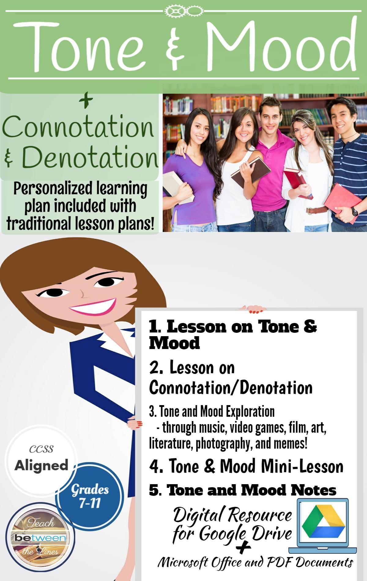 hight resolution of Complete Tone and Mood in Literature Bundle + Connotation and Denotation –  The Best of Teacher Entrepreneurs Marketing Cooperative