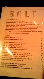 Salt Wine List