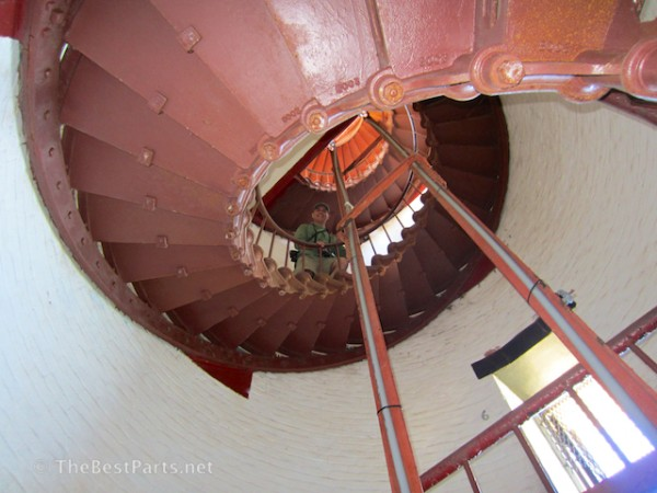 Ferd inside Hatteras Lighthouse