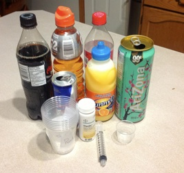 Determining Sugar Levels In Drinks Experiment